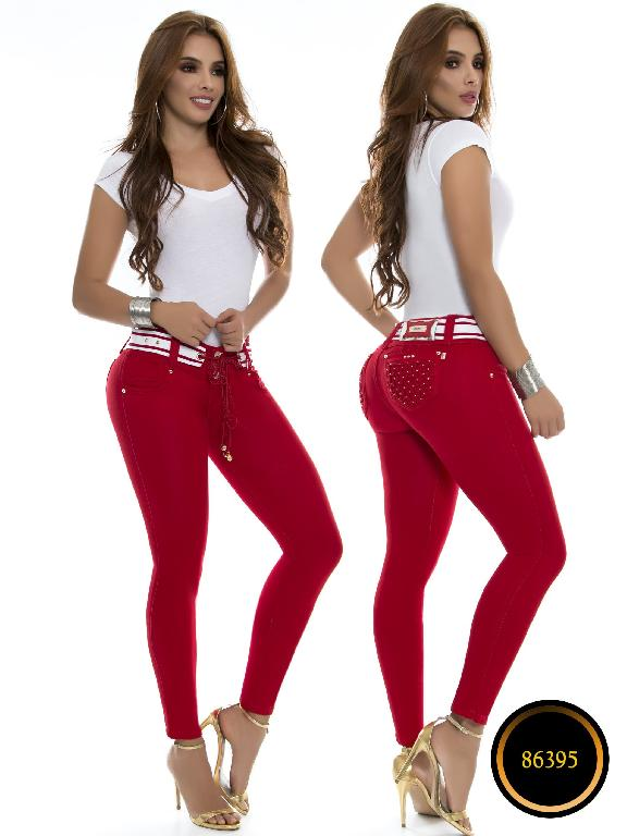 Jeans Levantacola Colombiano Wow - Ref. 243 -86395 - Rojo