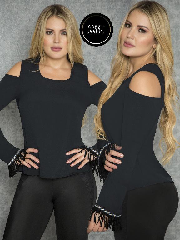Blusa Moda Colombiana Thaxx  - Ref. 119 -3355-1 Negro