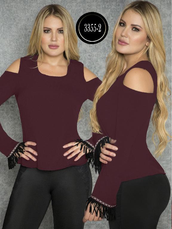 Blusa Moda Colombiana Thaxx  - Ref. 119 -3355-2 VinoTinto