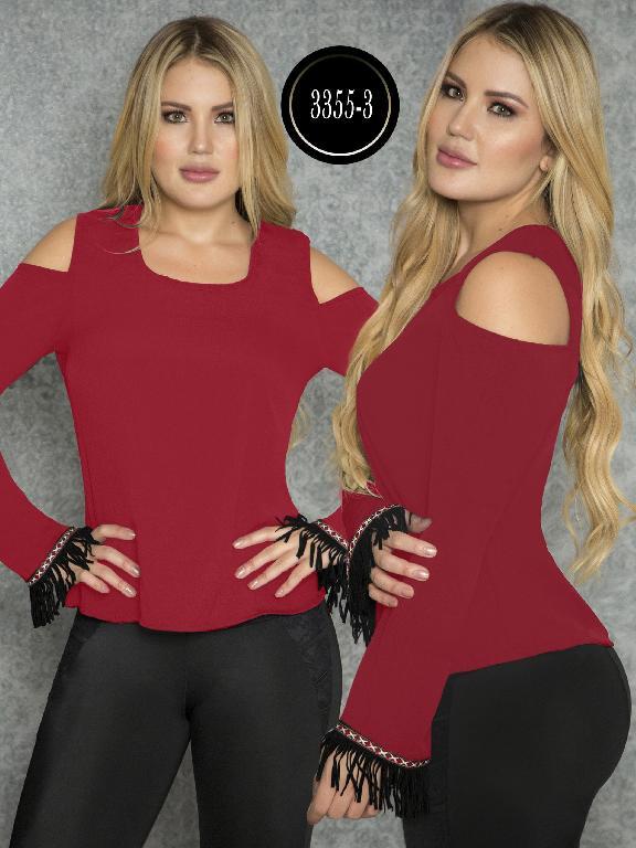 Blusa Moda Colombiana Thaxx  - Ref. 119 -3355-3 Rojo