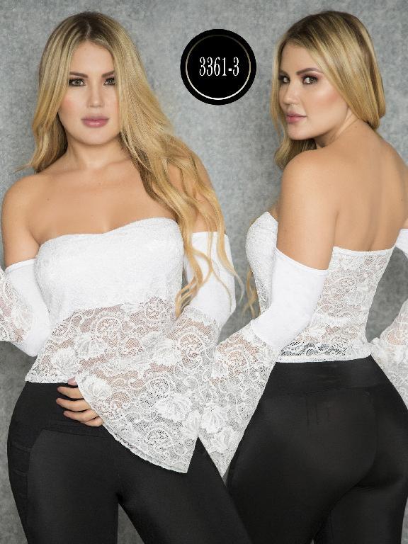 Blusa Moda Colombiana Thaxx  - Ref. 119 -3361-3 Blanco