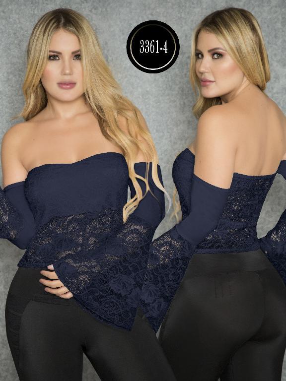 Blusa Moda Colombiana Thaxx  - Ref. 119 -3361-4 Azul