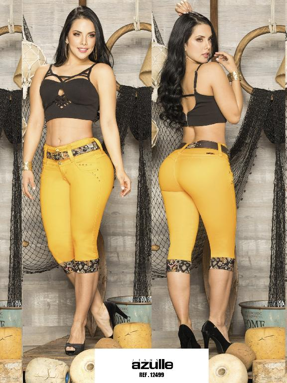 Capris  Levantacola Colombiano Azulle Jeans - Ref. 232 -12499 AZ