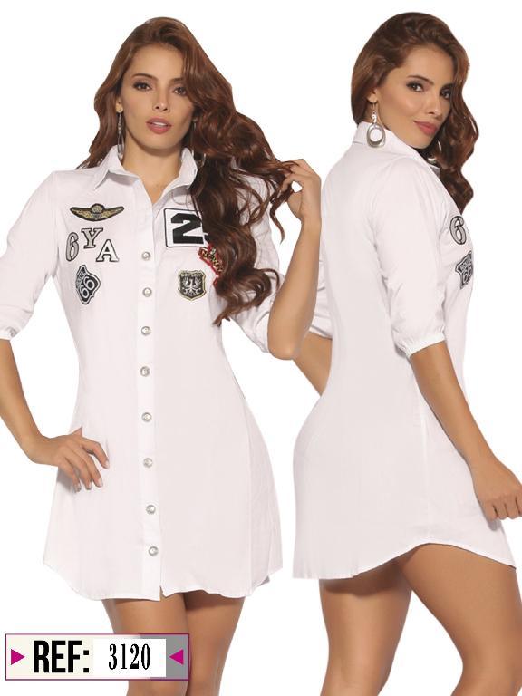 Vestido Colombiano Cereza - Ref. 111 -3120