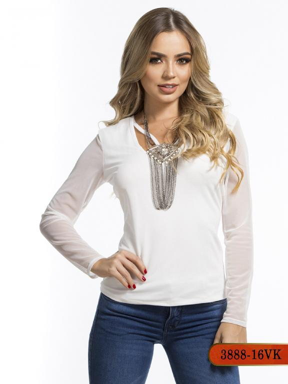 Blusa Moda Colombiana Vikats - Ref. 252 -3888-16 VK-Beige