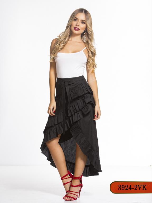 Falda Moda Colombiana Vikats - Ref. 252 -3924-2 VK-Negro