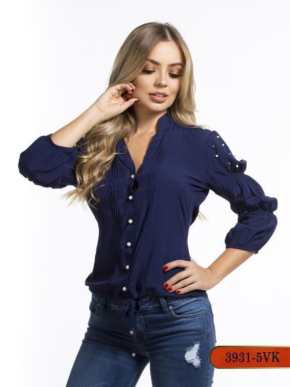 Blusa Moda Colombiana Vikats - Ref. 252 -3931-5 VK-Azul
