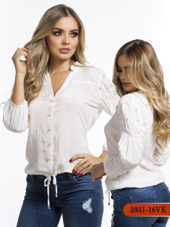 Blusa Moda Colombiana Vikats - Ref. 252 -3931-16 VK-Beige