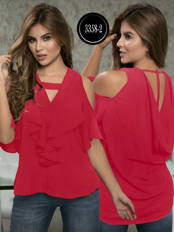 Blusa Moda Colombiana Thaxx  - Ref. 119 -3358-2 Rojo