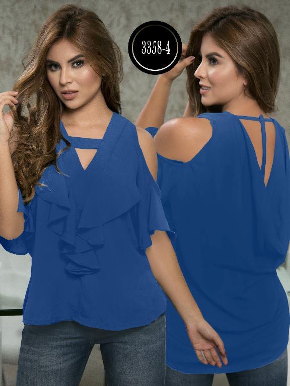 Blusa Moda Colombiana Thaxx  - Ref. 119 -3358-4 Azul