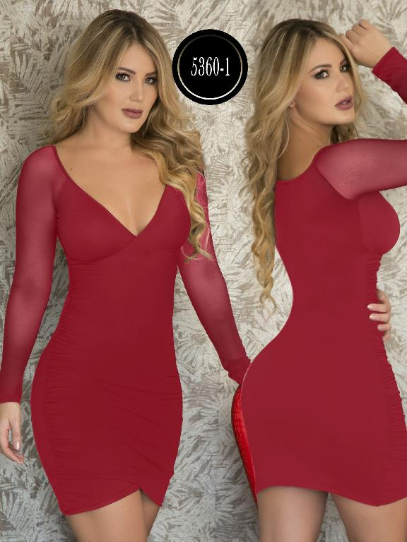 Vestido Moda  Colombiana Thaxx - Ref. 119 -5360-1 Rojo