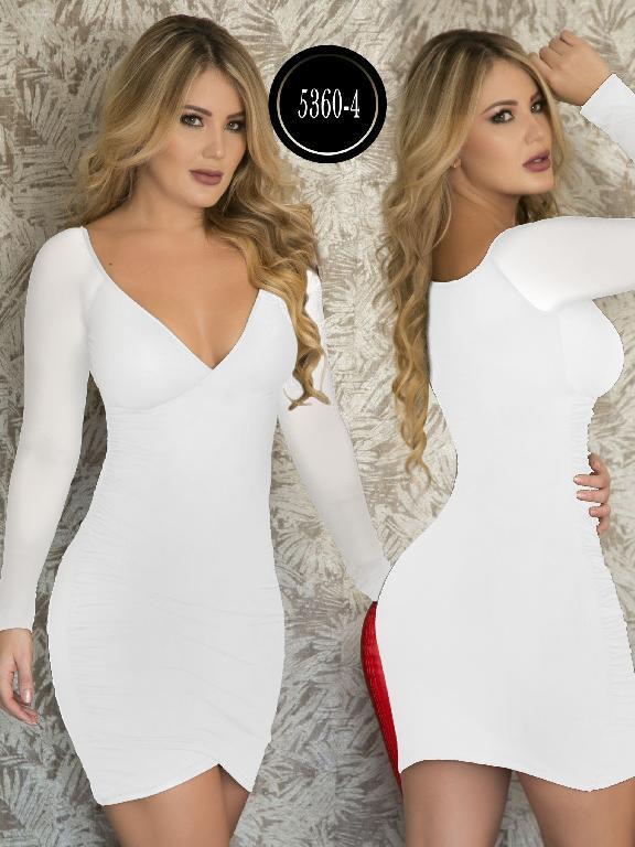 Vestido Moda  Colombiana Thaxx - Ref. 119 -5360-4 Blanco