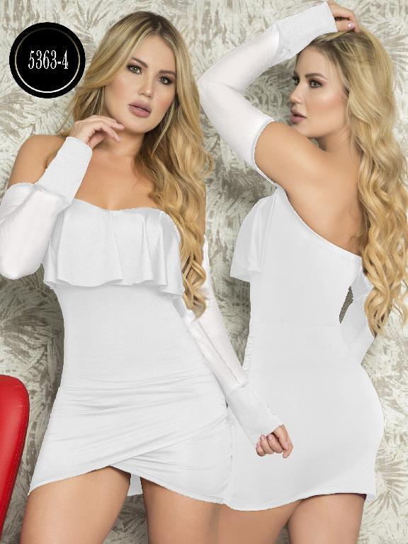 Vestido Moda  Colombiana Thaxx - Ref. 119 -5363-4 Blanco