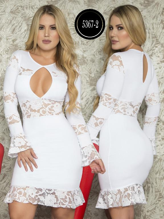 Vestido Moda  Colombiana Thaxx - Ref. 119 -5367-2 Blanco