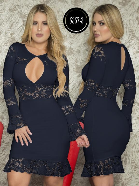 Vestido Moda  Colombiana Thaxx - Ref. 119 -5367-3 Azul