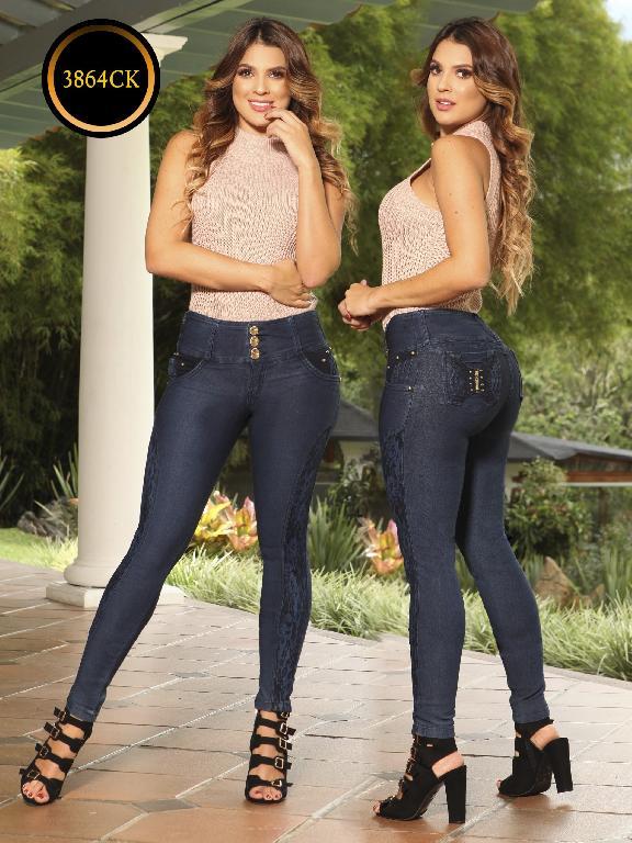Jeans Dama Levantacola Colombiano Cokette - Ref. 119 -3864 CK