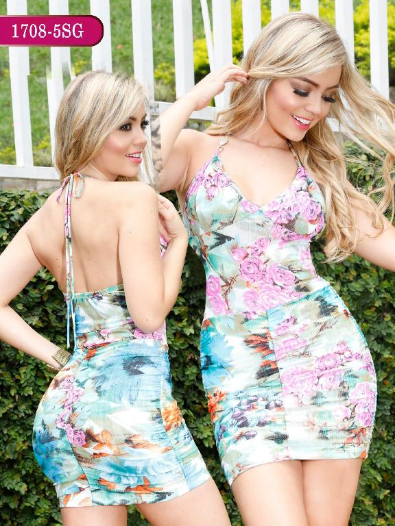 Vestidos Moda colombiana Signos - Ref. 259 -1708-5 SG Azul