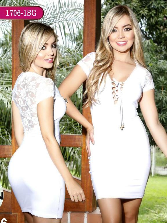 Vestidos Moda colombiana Signos - Ref. 259 -1706-1 SG Blanco