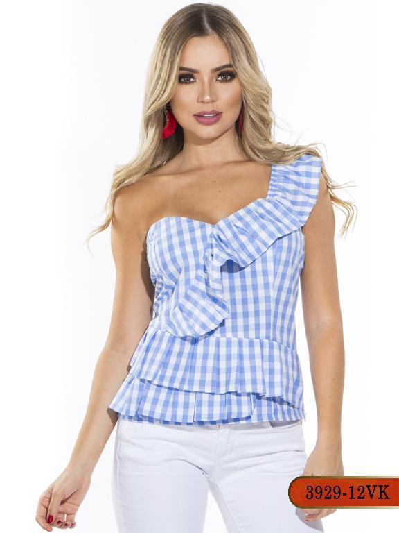 Blusa Moda Colombiana Vikats - Ref. 252 -3929-12 VK- Azul Claro