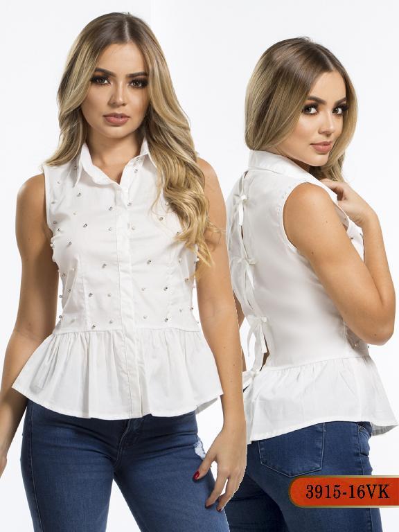 Blusa Moda Colombiana Vikats - Ref. 252 -3915-16 VK Beige