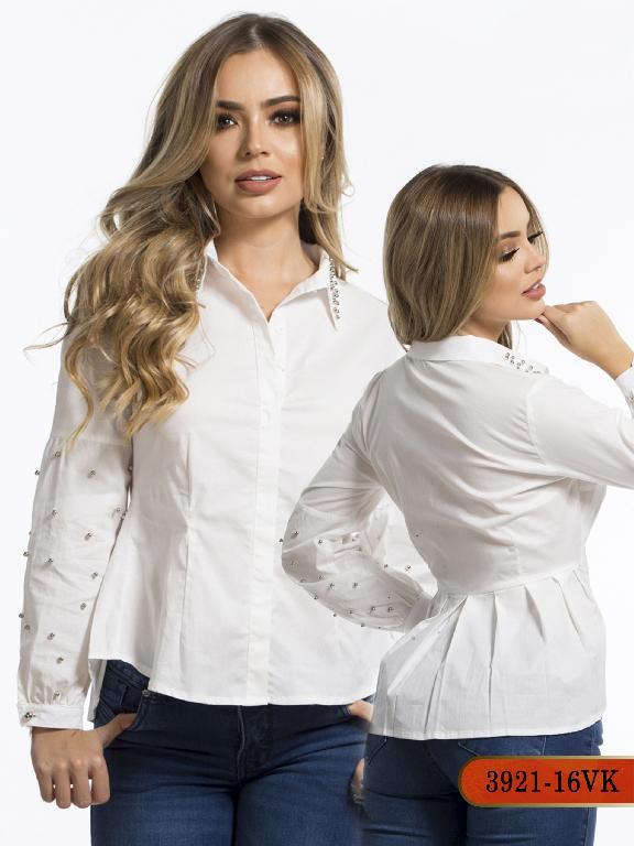 Blusa Moda Colombiana Vikats - Ref. 252 -3921-16 VK-Beige
