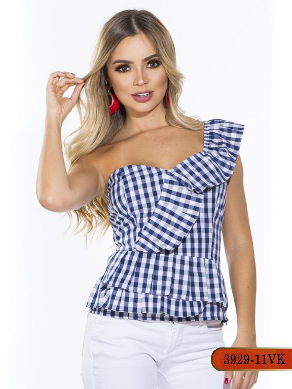 Blusa Moda Colombiana Vikats - Ref. 252 -3929-11 VK-Azul Oscuro