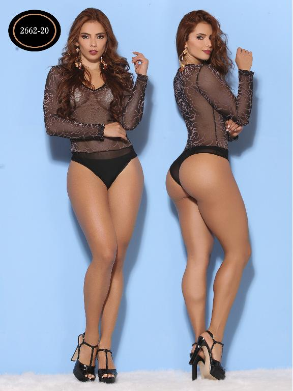 Body Moda Azulle Fashion  - Ref. 256 -2662-2  Negro con Rosa