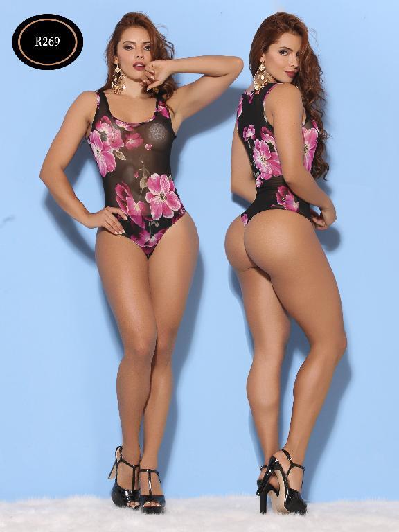 Body Moda Azulle Fashion  - Ref. 256 -R269-2 Negro-Morado