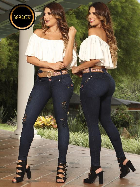 Jeans Dama Levantacola Colombiano Cokette - Ref. 119 -3892 CK
