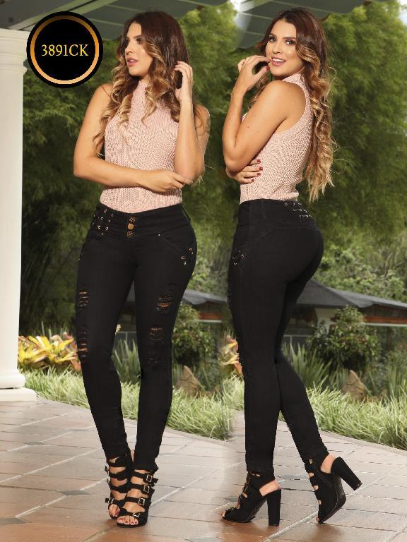 Jeans Dama Levantacola Colombiano Cokette - Ref. 119 -3891 CK
