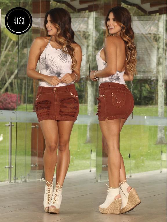 Falda  Levantacola Colombiano Cokette - Ref. 119 -4130CK