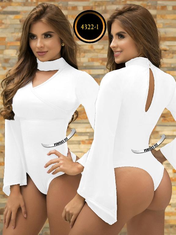 Body Reductor Colombiano Capellini - Ref. 114 -4322-1 Blanco