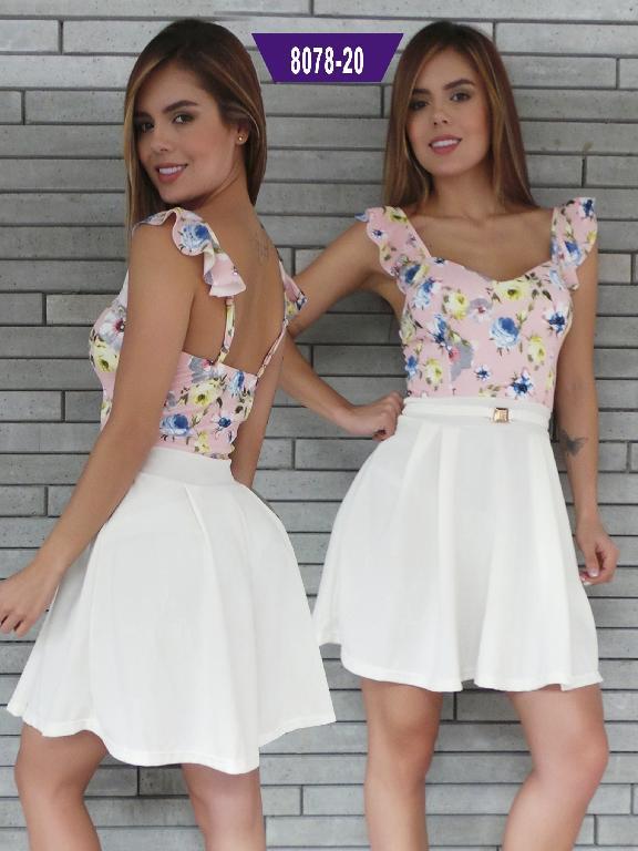 Vestido Moda Colombiana Stafull - Ref. 247 -8078-20 ST Rosado