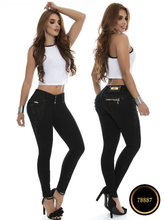 Jeans Levantacola Colombiano Lujuria - Ref. 243 -78887 - Negro