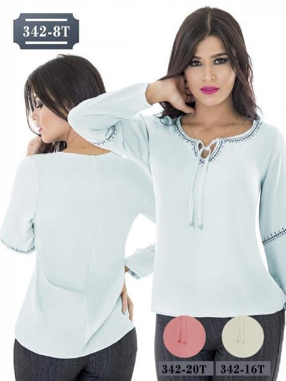 Blusa Moda Colombiana Tabbachi - Ref. 236 -342-8T Verde