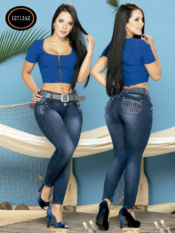 Jeans Levantacola Colombiano Azulle Jeans - Ref. 232 -12712 AZ