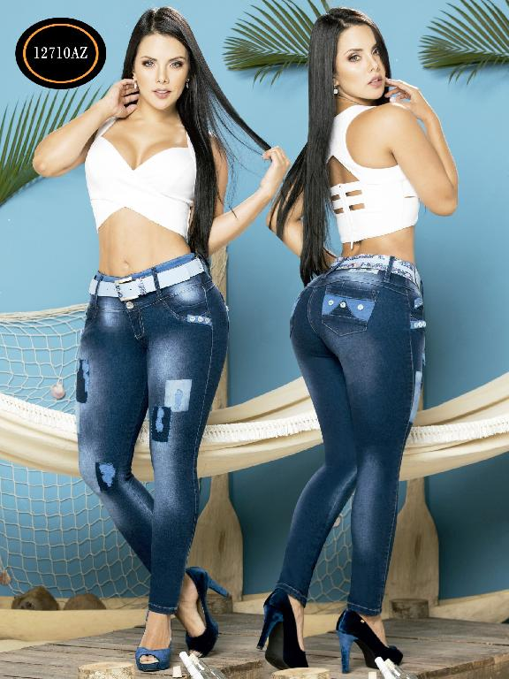Jeans Levantacola Colombiano Azulle Jeans - Ref. 232 -12710 AZ