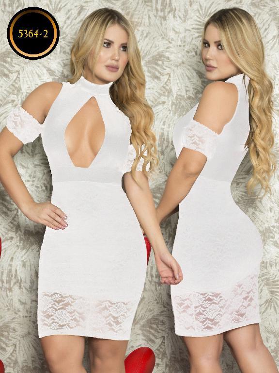 Vestido Moda  Colombiana Thaxx - Ref. 119 -5364-2 Blanco