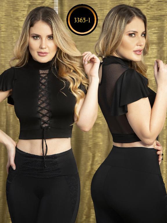 Blusa Moda Colombiana Thaxx  - Ref. 119 -3365-1 Negro