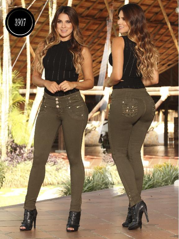 Jeans  Dama Levantacola Colombiano Cokette - Ref. 119 -3907 CK
