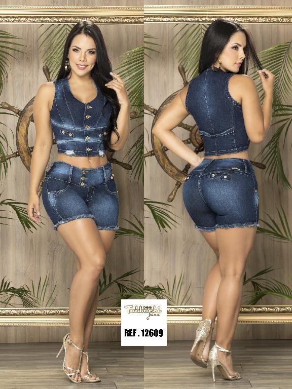 Conjunto Short Levantacola Colombiano Tabbachi - Ref. 101 -12609-T