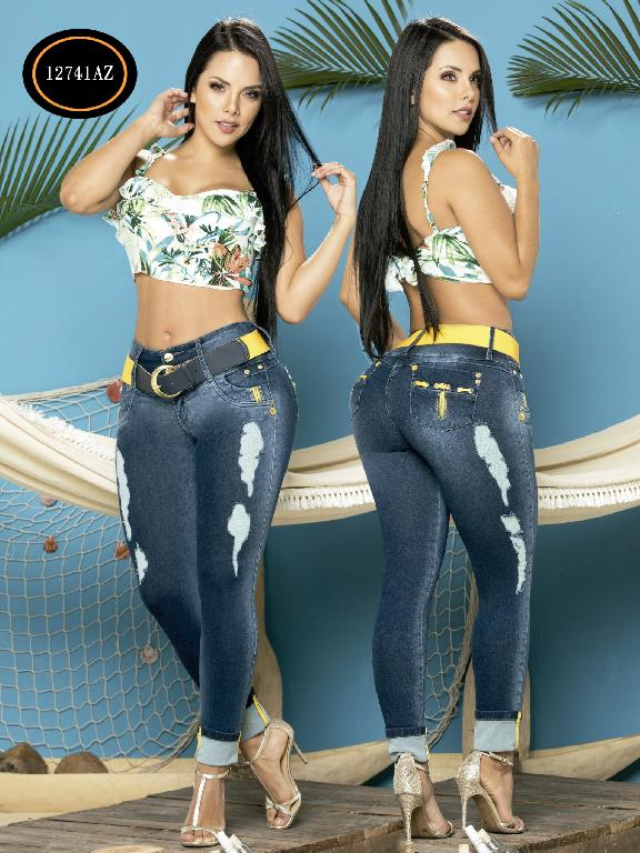 Jeans Levantacola Colombiano Azulle Jeans - Ref. 232 -12741 AZ