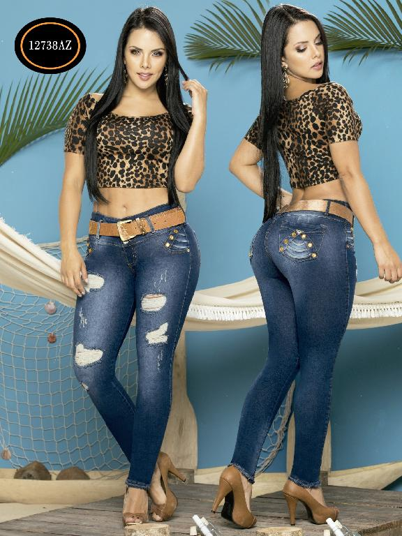 Jeans Levantacola Colombiano Azulle Jeans - Ref. 232 -12738 AZ