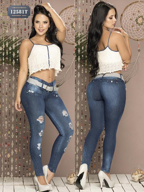 Jeans Levantacola Colombiano Tabbachi - Ref. 101 -12581T