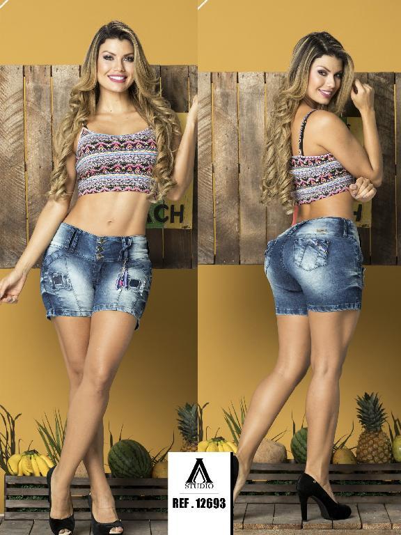 Short Levantacola Colombiano Studio AA - Ref. 235 -12693-AA