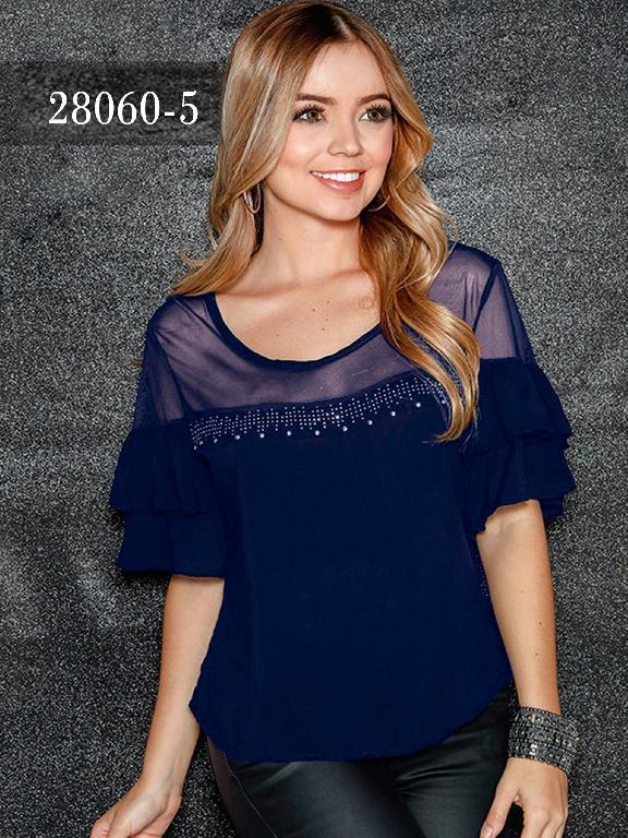 Blusas Colombianas Dinasty - Ref. 266 -28060-5 Azul
