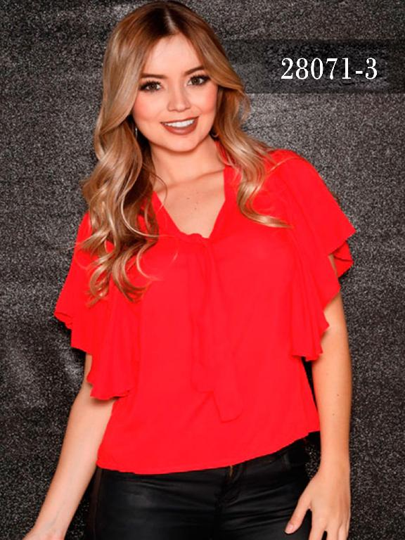 Blusas Colombianas Dinasty - Ref. 266 -28071-3 Rojo