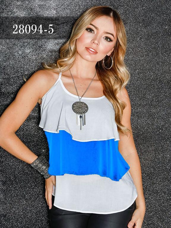 Blusas Colombianas Dinasty - Ref. 266 -28094-5 Azul