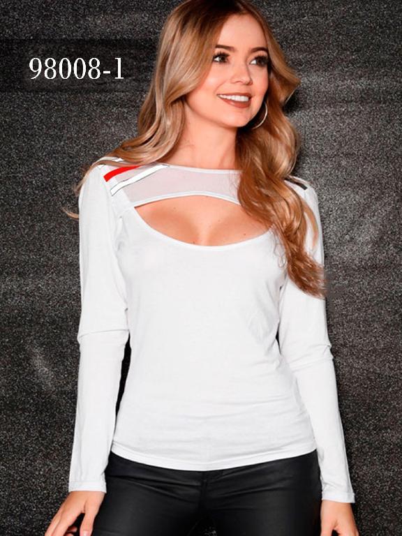 Blusas Colombianas Dinasty - Ref. 266 -98008-1 Blanca