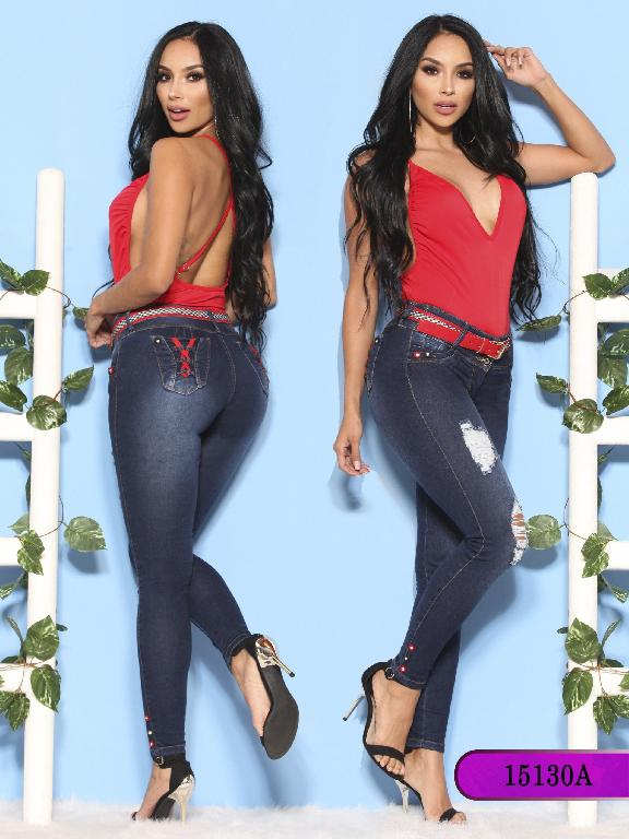 Jeans Levantacola Colombiano Ambar  - Ref. 234 -15130-A